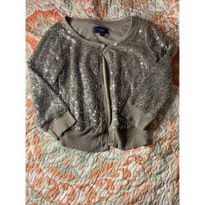 AE sequin button cardigan. Size S